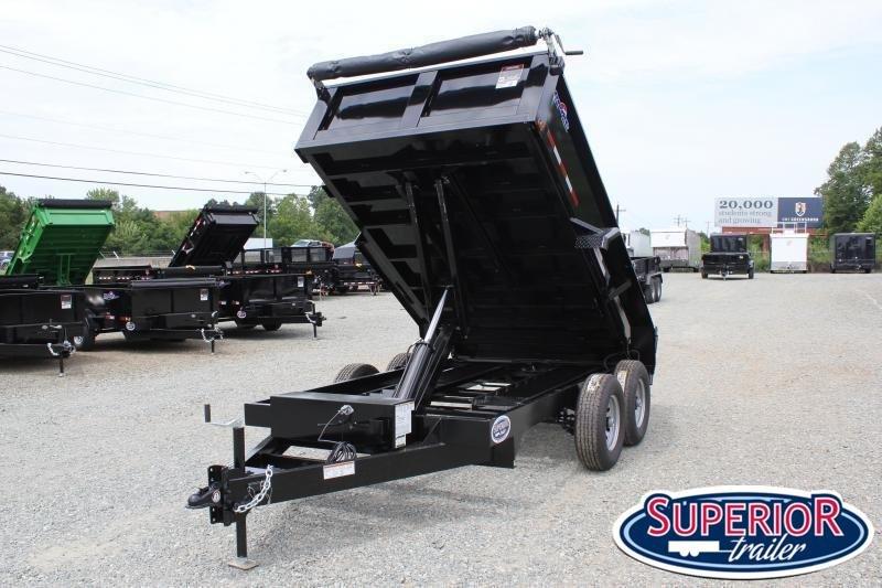 2020 Hawke 6X12 10K Dump w/ Spreader Gate Ramps and Tarp