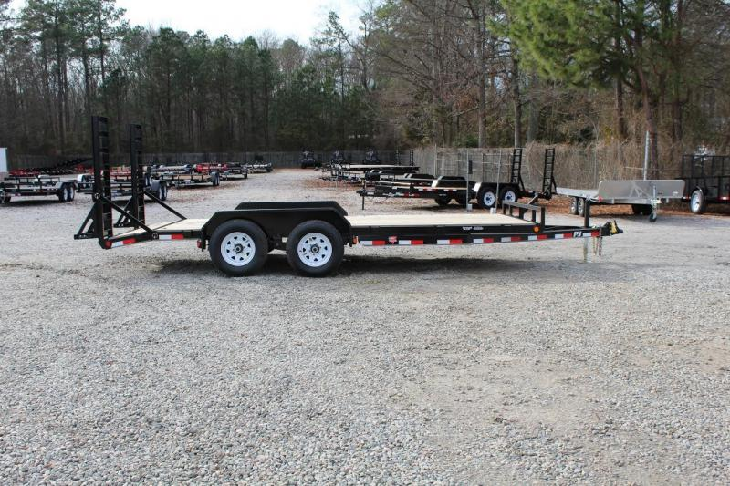 2016 PJ Trailers 18ft CE 10K Car Trailer w/ Fold Up Ramps