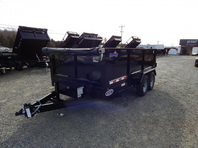 2019 Hawke 7x14 12K Dump w/ 3' Sides Ramps & Tarp