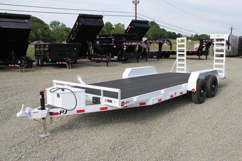 2019 PJ Trailers 20 CE 10K w/ Tongue Box & Fold Up Ramps