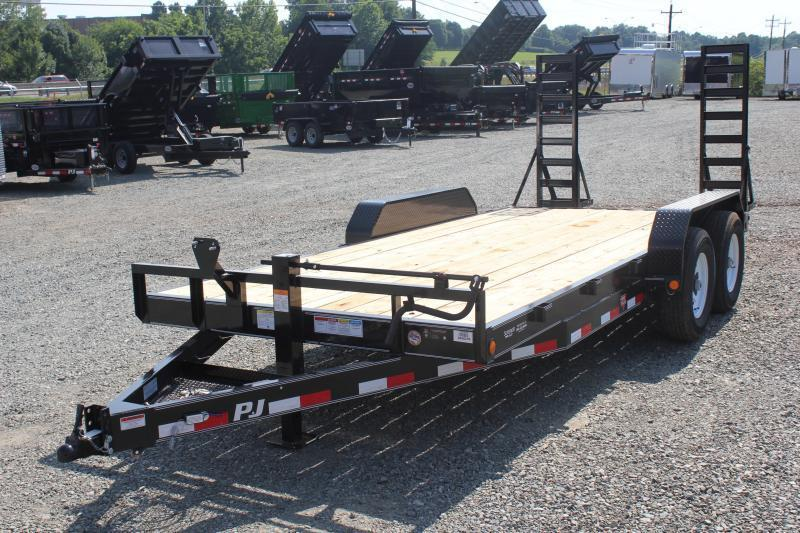2019 PJ Trailers 18CC 14K  w/ Tongue Box & Fold Up Ramps