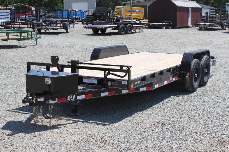 2019 PJ Trailers 20CC 14K w/ Tongue Box & Slide in Ramps