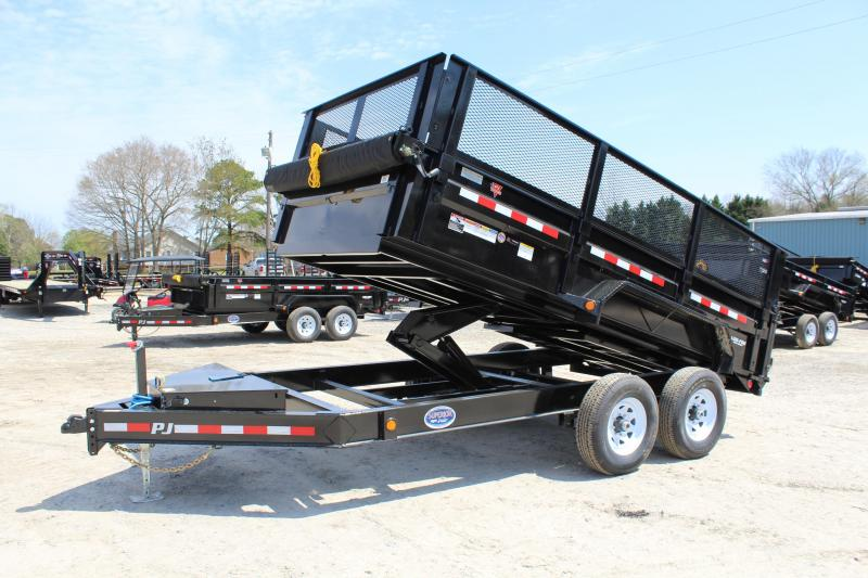 "2020 PJ Trailers 7X14 DL 14K Dump Trailer w/24"" Exp Metal Side Extensions"