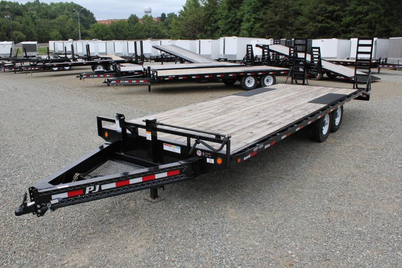 2018 PJ Trailers 24 F8 14K Deckover w/ Fold Up Ramps