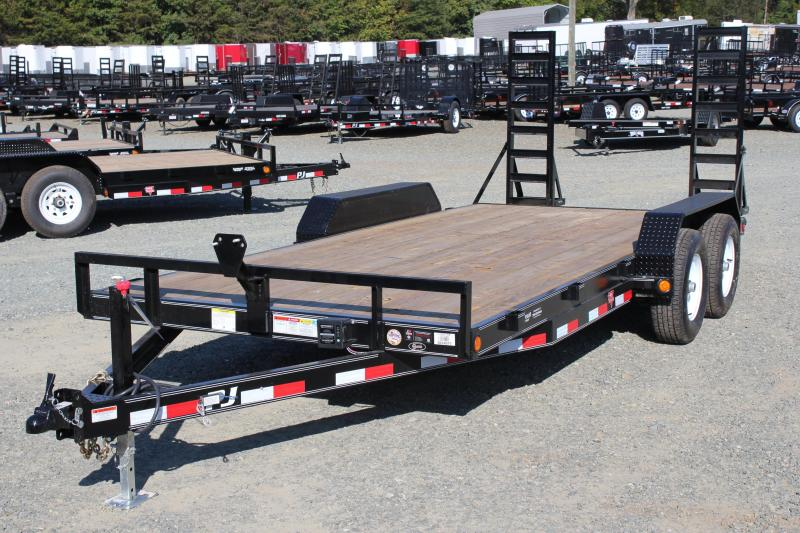 2018 PJ Trailers 18 CE 10K w/ Fold Up Ramps