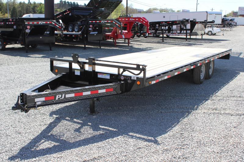 2018 PJ Trailers 24 F8 14K Deckover w/ Slide In Ramps