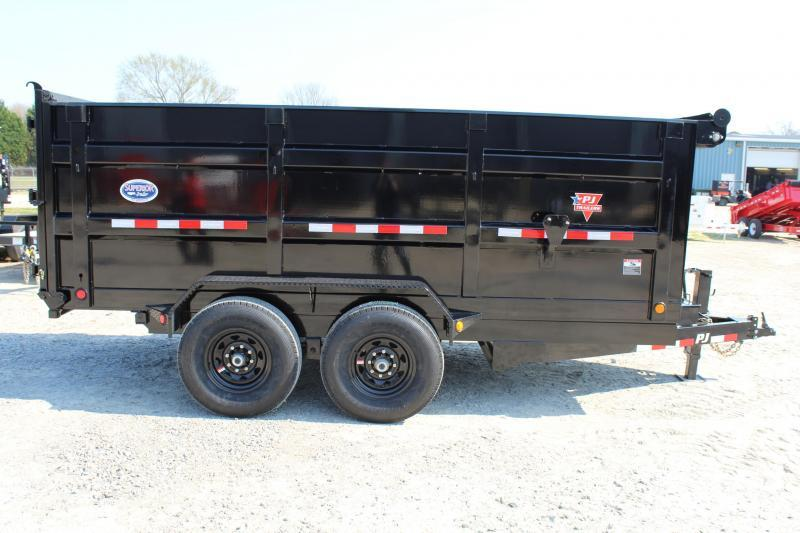 2018 PJ Trailers 7X14 DH 14K  High Side Dump Trailer