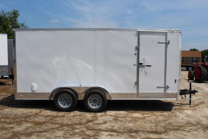 2018 Continental Cargo 7X16 Enclosed Cargo Trailer w/ Ramp