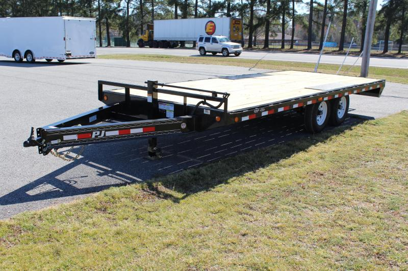 2017 PJ Trailers 24ft F8 14K Deckover w/ Slide-in Ramps