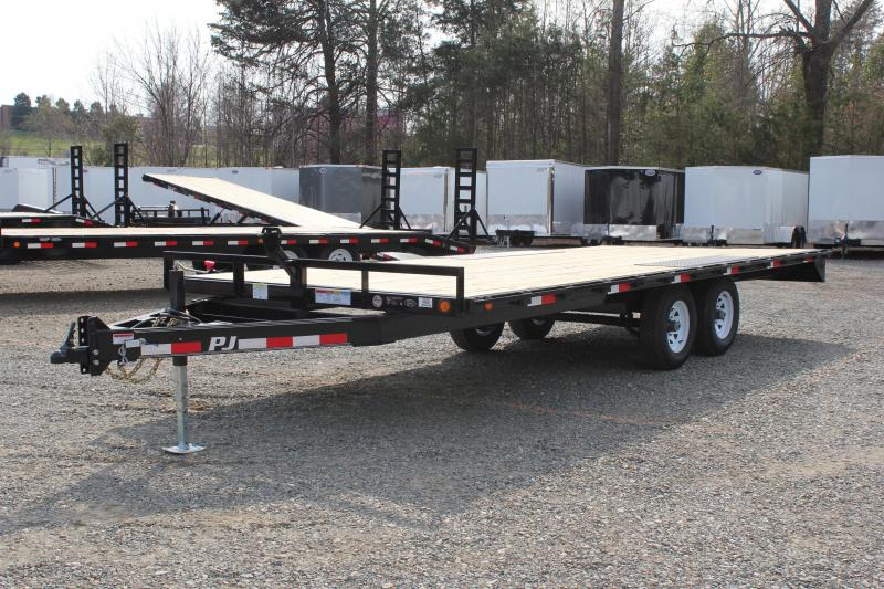 2018 PJ Trailers 20ft L6 10K Deckover w/Slide in Ramps