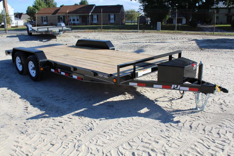 2018 PJ Trailers 18ft C5 7K Car Trailer w/Rear Slide in Ramps
