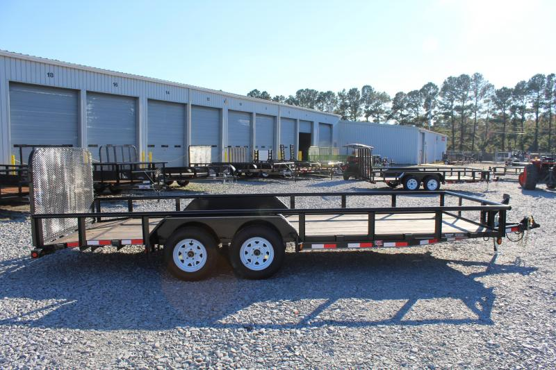 2017 PJ Trailers 20 P6 7K Utility Trailer w/ 4ft Tailgate