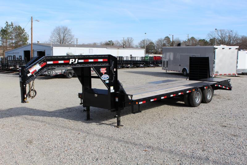 2018 PJ Trailers 25ft LD Low Pro Equipment Trailer