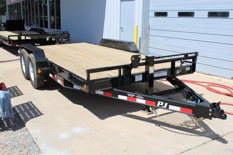 2020 PJ Trailers 16ft CC 14K w/ Slide-In Ramps