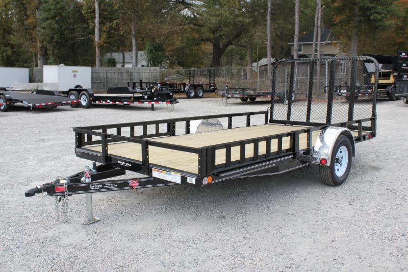 2019 PJ Trailers 7X14 U8 w/ Side Mount ATV Ramps & Tailgate