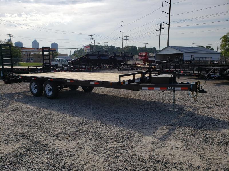 2020 PJ Trailers 20ft L6 10K Deckover w/ Foldup Ramps