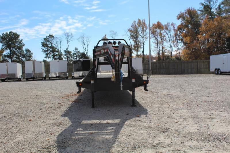 2017 PJ  44' Low Pro Gooseneck w/ Hydraulic Dovetail & 15k Air Brake Axles