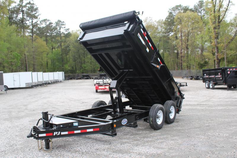 2019 PJ Trailers 7X14 DL 14K  Low Pro Dump