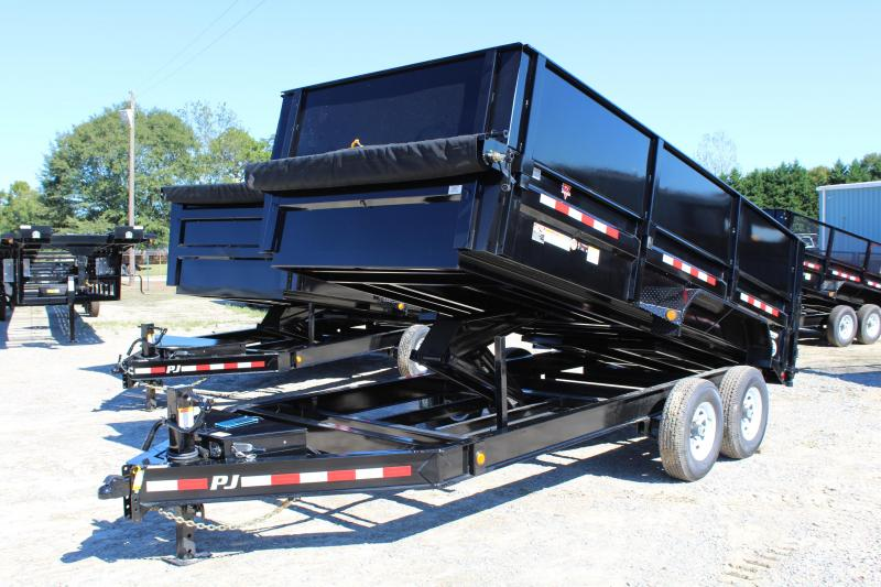 "2019 PJ Trailers 7X16 DL 14K Dump Trailer w/24"" Solid Side Extensions"