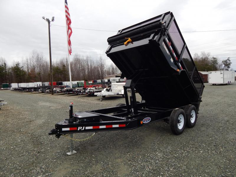 "2019 PJ Trailers 7X12 DL 14K Dump w/ 24"" Exp Metal Side Extensions"