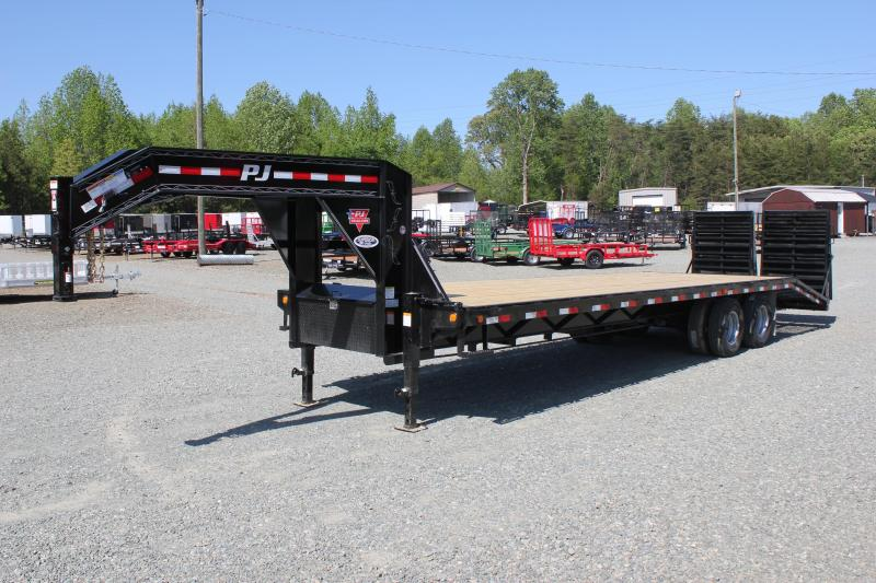 2019 PJ 30 FD Gooseneck w/ 12K Axles & Monster Ramps