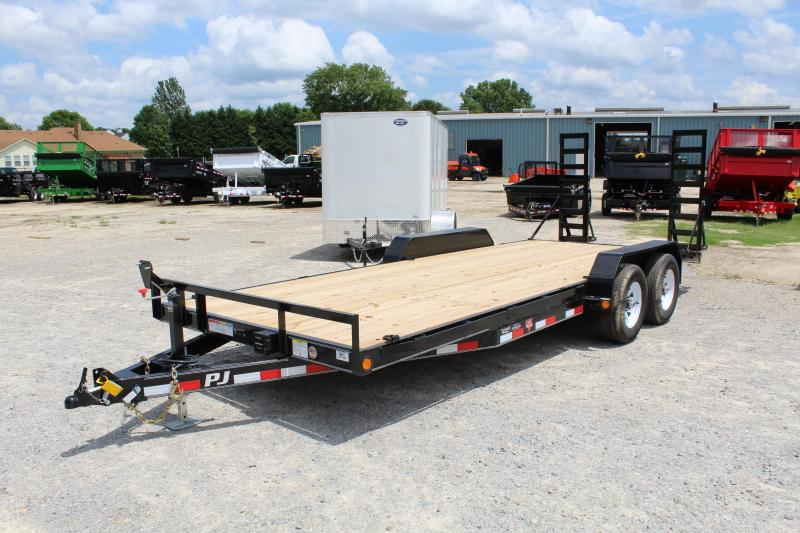 2018 PJ Trailers 20ft CE 10K Equipment Trailer w/ Fold up Ramps