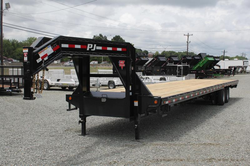 2019 PJ 40 FD Gooseneck w/ Air Ride & 8' Slide In Ramps