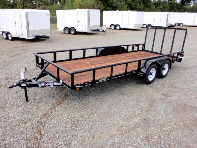 2017 Texas Bragg Trailers 18P w/ 4ft Gate