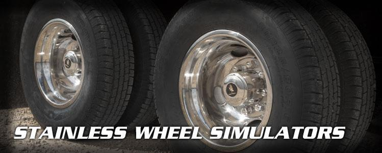 Chrome Dual Wheel Simulators 16