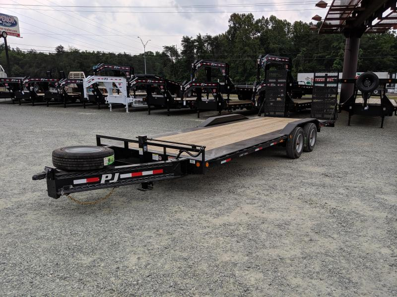 2020 PJ Trailers 24 H7 20K w/ 31X66 HD Fold Up Ramps