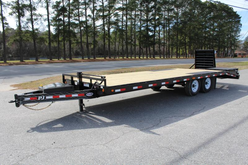 2019 PJ Trailers 24ft F8 14K Deckover w/Monster Ramps