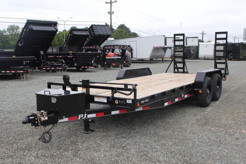 2020 PJ Trailers 20CC 14K w/ Tongue Box & Fold Up Ramps