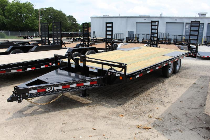 2020 PJ Trailers 20ft F8 14K Deckover w/ Fold Up Ramps