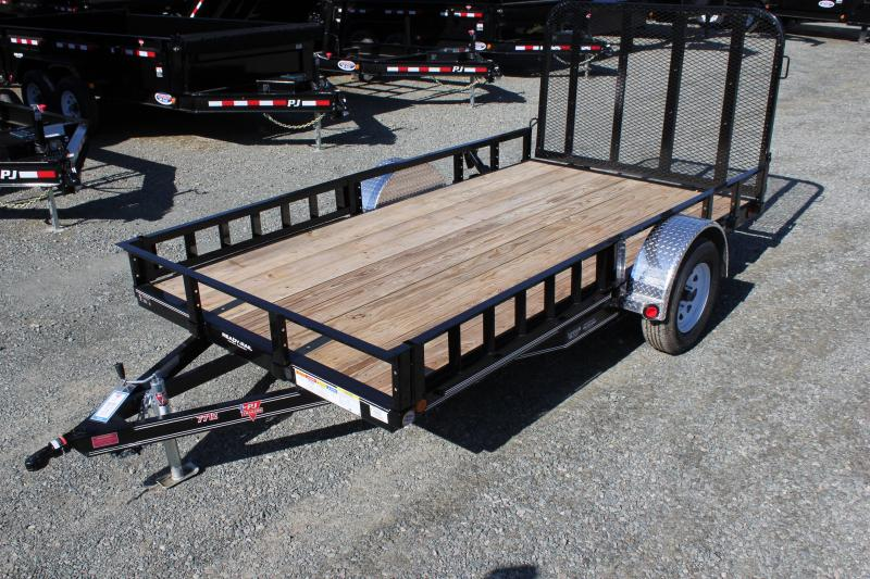 2020 PJ 6x12 U7 w/ Side Ramps & Gate