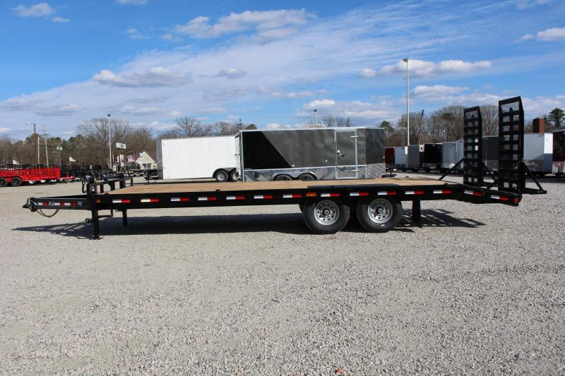 2017 PJ Trailers 24ft F8 14K Deckover w/Fold Up Ramps
