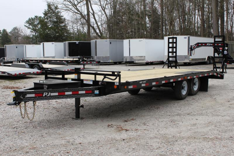 "2018 PJ Trailers 22ft F8 14K Deckover w/ 16"" x 60"" Ramps"