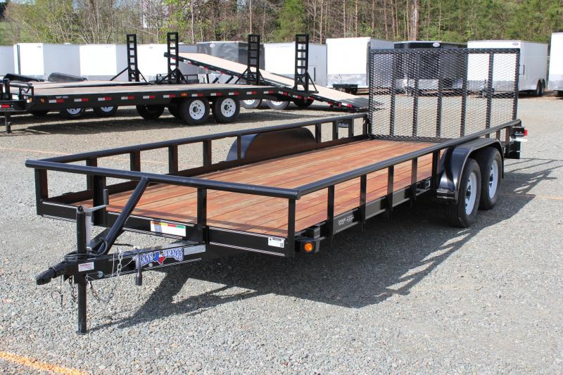 2017 Texas Bragg Trailers 20P w/ 4' Gate