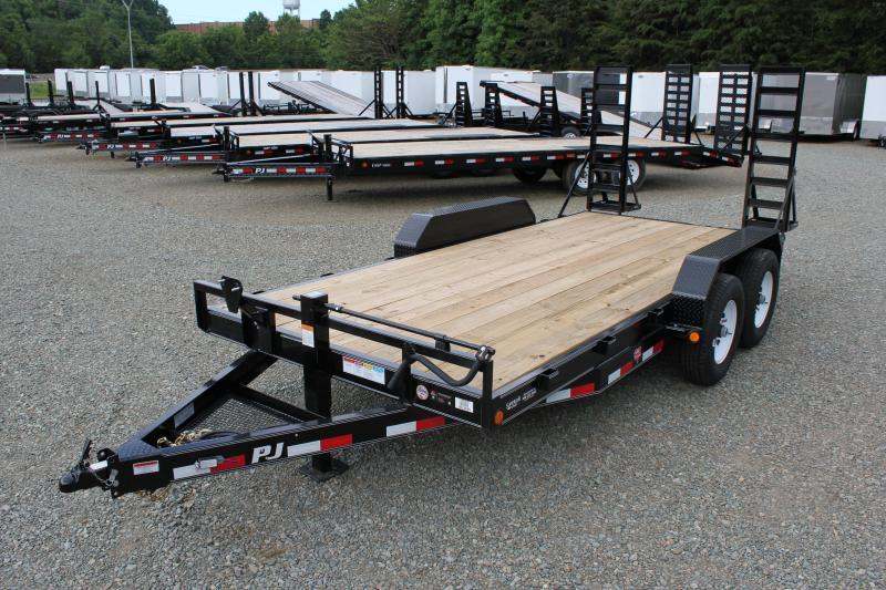 2019 PJ Trailers 16 CC 14K w/ Fold Up Ramps