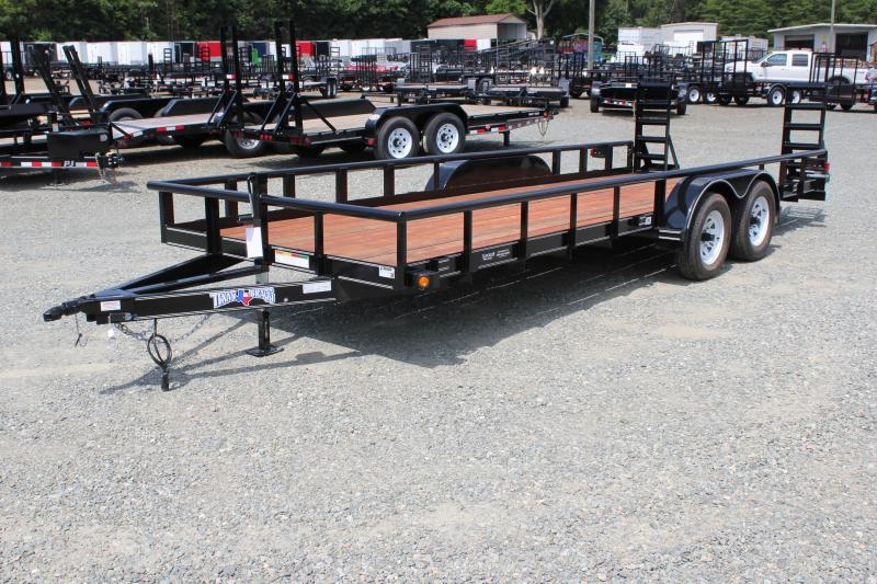 2017 Texas Bragg Trailers 20P w/ Fold Up Ramp