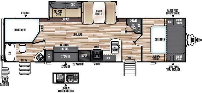 2018 Forest River Inc. 309BOK Travel Trailer