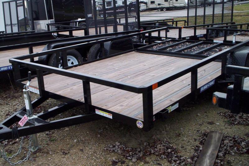2017 Sure-Trac 7x12 ST8212TA-B-030 Utility Trailer