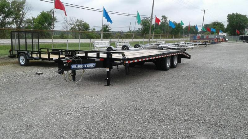2017 Sure-Trac 20 5 22.5k Bumperpull Deckover Equipment Trailer