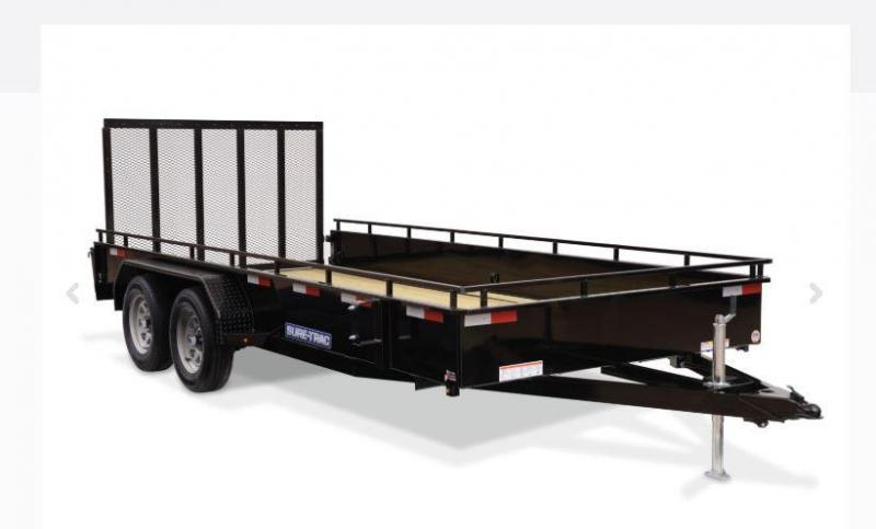 2019 Sure-Trac 7x16 7K Steel High Side Utility Trailer