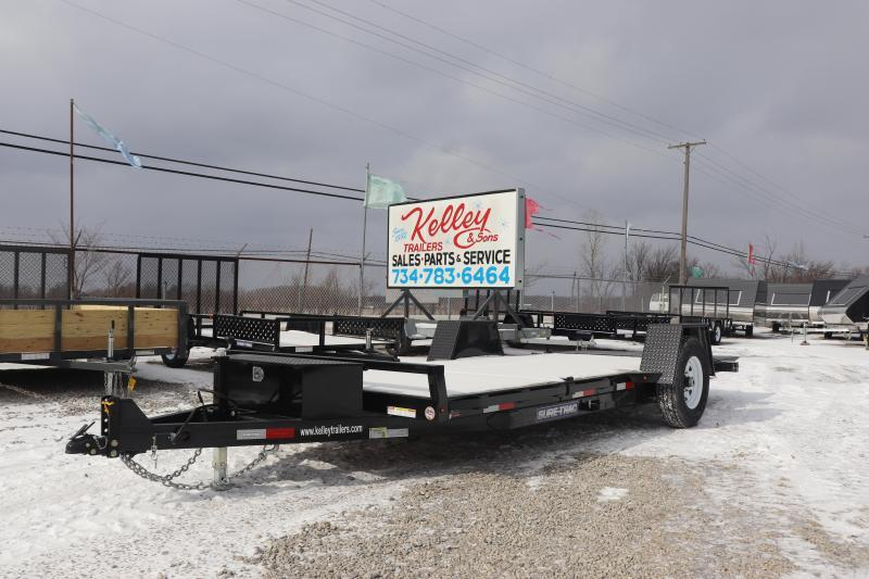 "2019 Sure-Trac 78""x12+4 7.8K Tilt Bed Equipment Trailer"