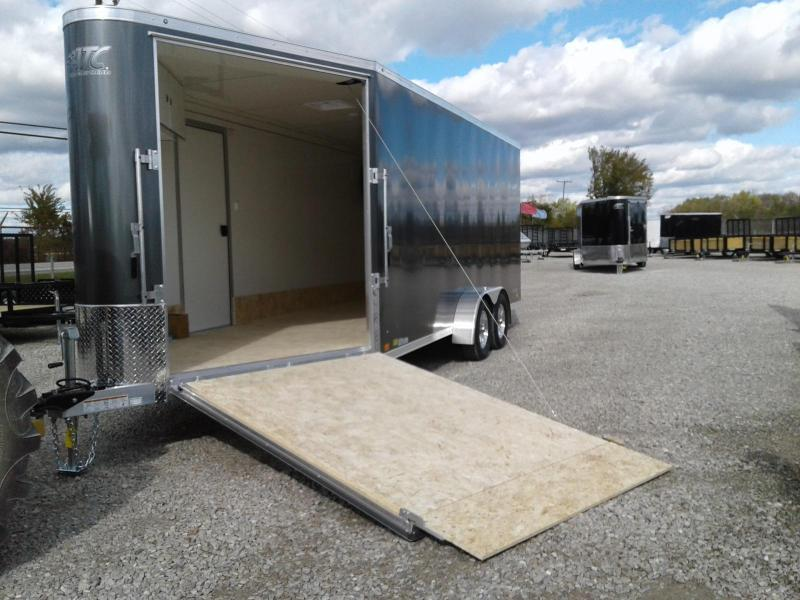 2019 Aluminum Trailer Company 7x18+6 3-Place Snowmobile Trailer