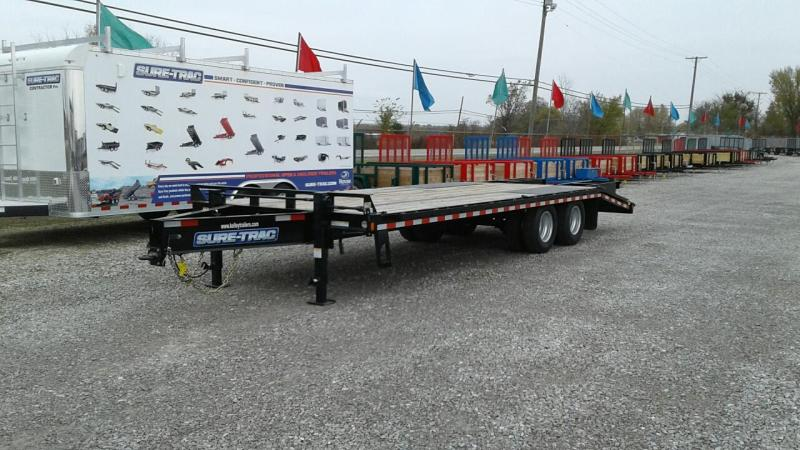 2018 Sure-Trac 20 5 22.5k HD Bumper Pull Deckover Equipment Trailer