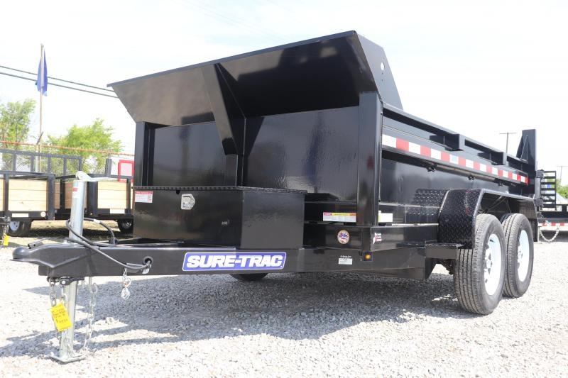 "2019 Sure-Trac 72"" x 10 7K Low Profile Single Ram Dump Trailer"