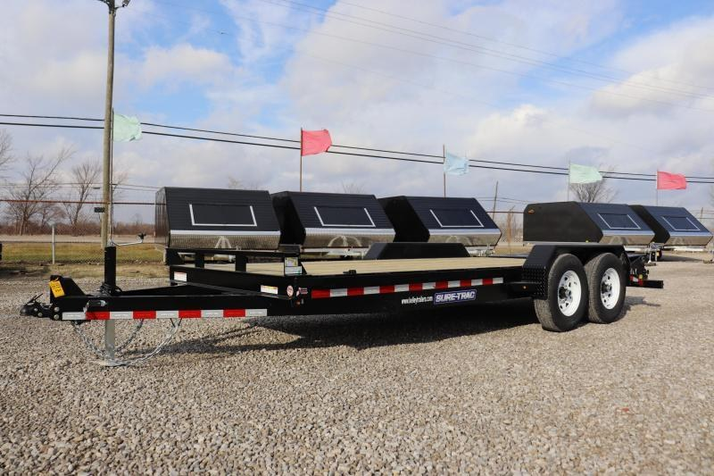 2019 Sure-Trac 7x15+3 14K Implement HD Universal Ramp Equipment Trailer