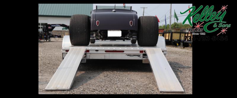 "2019 Hillsboro Industries 82""x20 Aluminum Car Hauler Car / Racing Trailer"