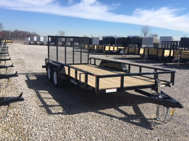 2018 Sure-Trac 7 x 16 Tube Top Utility Trailer